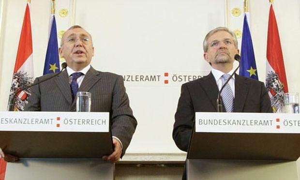 Gusenbauer und Molterer