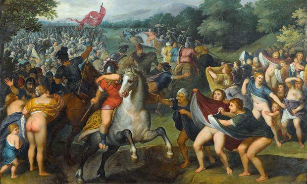"""Frisch restauriert und im Herbst nicht im KHM, sondern in der Secession zu sehen: """"Die Perserinnen"""", Otto van Veen (1556–1629), hier ein Ausschnitt."""