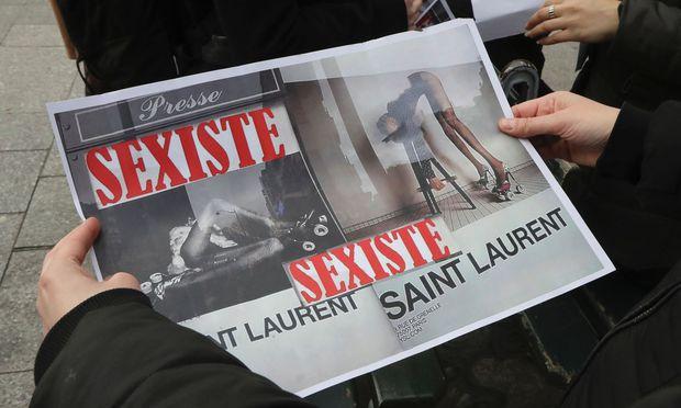 Umstrittene Werbung von Saint Laurent