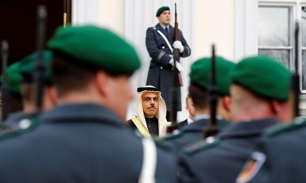 Der neue Botschafter Saudi-Arabiens Prinz Faisal bin Farhan Al Saud am Mittwoch in Berlin.