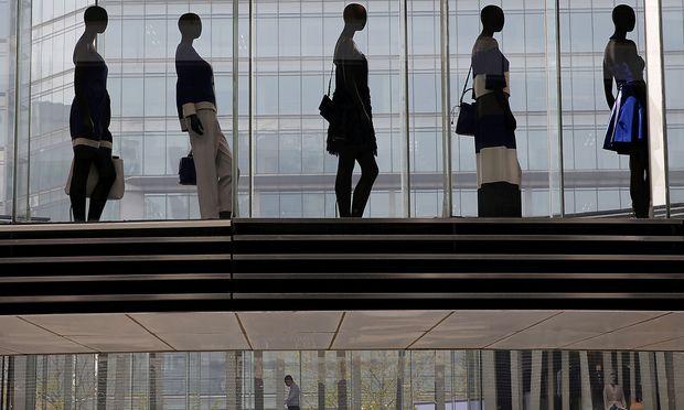 In einem Luxuskaufhaus in Peking.