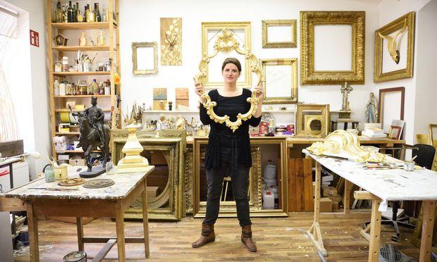 Waltraud Luegger in ihrem Atelier.