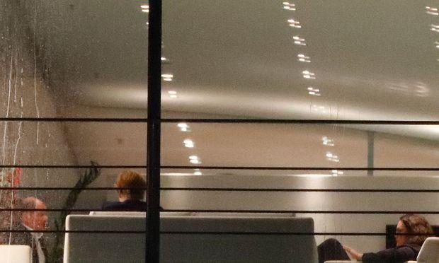 Finanzminister Scholz, Kanzlerin Merkel und Arbeitsministerin Nahles vor Beginn des Treffens im Kanzleramt in Berlin.
