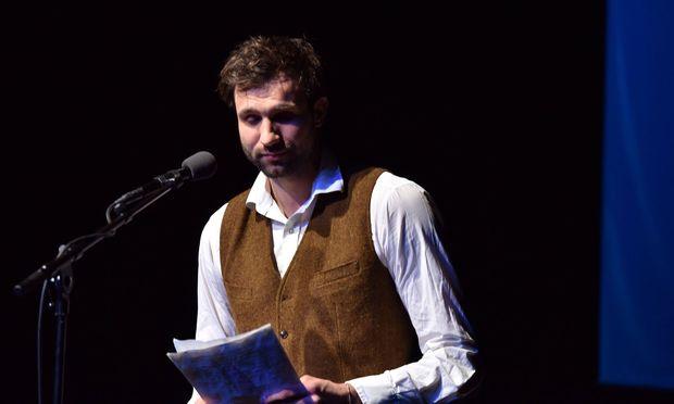 Autor Takis Würger beim Debütpreis der lit COLOGNE  in Köln.