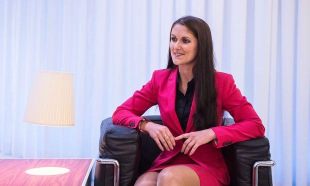 Cornelia Bartholner: jung, lernbegierig, mit großer Zukunft vor sich.