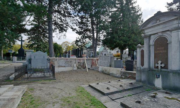 Lücke statt Gindreau-Mausoleum: Hietzinger Friedhof.