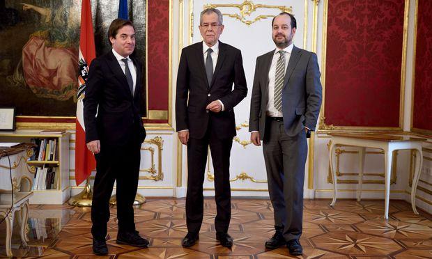 Rainer Nowak, Alexander Van der Bellen, Oliver Pink