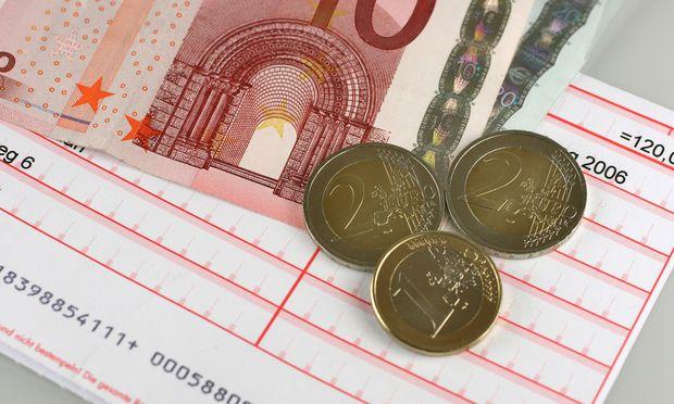 Zahlschein und Euros - postal money order and Euros