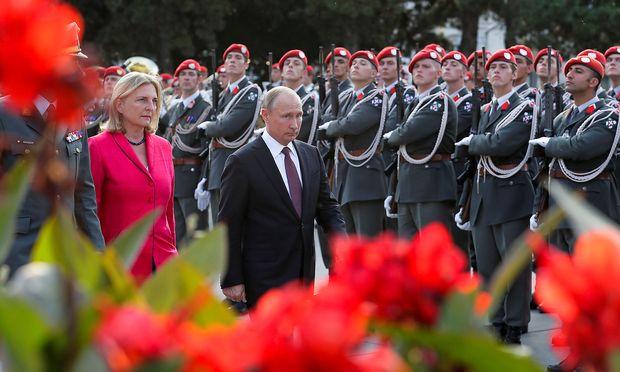 Putin beim Staatsbesuch in Wien.