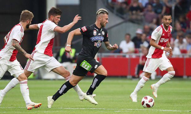 SOCCER - UEFA CL quali, Ajax vs Sturm