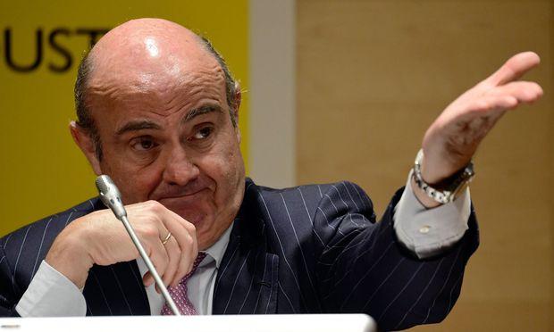 Wirtschaftsminister Luis de Guindos: Bankkunden haben nichts zu befürchten