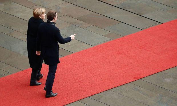 Angela Merkel und Sebastian Kurz in Berlin im Jänner 2018