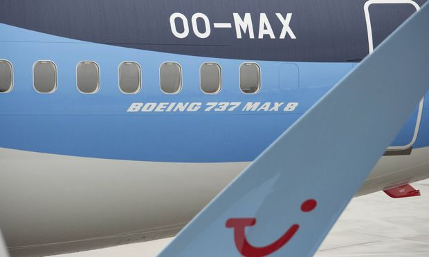 Illustration picture shows the first Boeing 737 MAX airplane of TUI multinational travel and touri