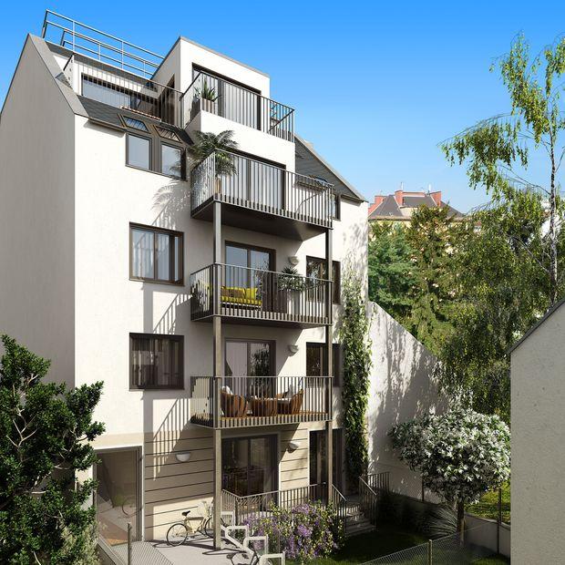Schaubild des neuen Wohnhauses Mautnter-Markhof-Gasse 61