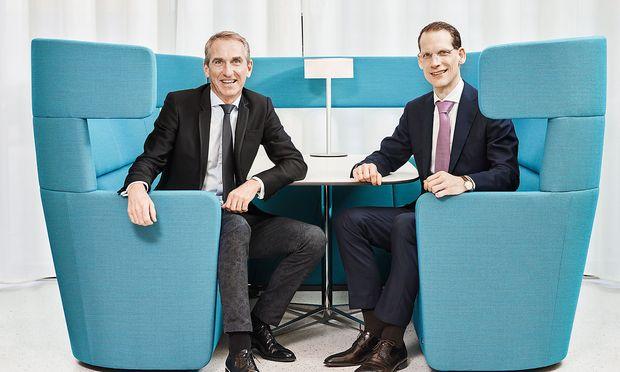 Bene Geschäftsführer Michael Fried (links) und Jörg Schuschnig