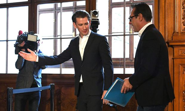 ÖVP-Chef Sebastian Kurz und FPÖ-Obmann Heinz-Christian Strache