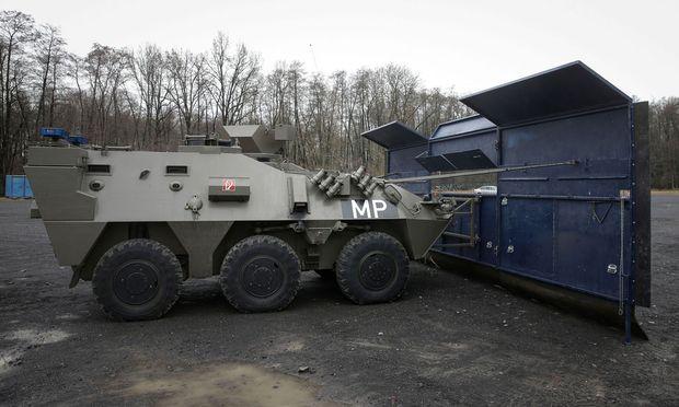 Der Pandur-Panzer des Heeres in Spielfeld.
