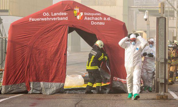 Großeinsatz bei Agrana in OÖ: 40 Verletzte bei Säureaustritt