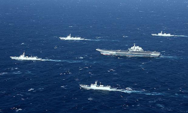 Ein chinesischer Flugzeugträger im Südchinesischen Meer.