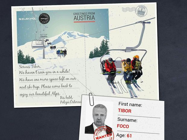 Europol schickt Postkarte an flüchtigen Tibor Foco