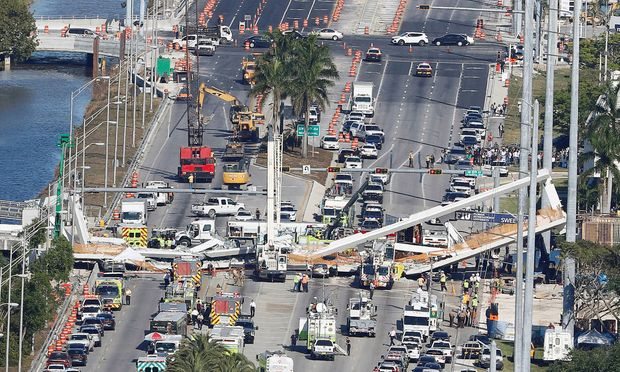 Die Unglücksstelle in Miami