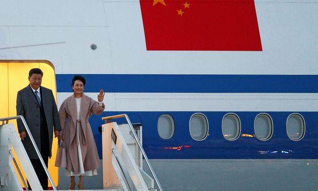 Chinas Staats- und Parteichef Xi Jinping bei seiner Ankunft in Italien.