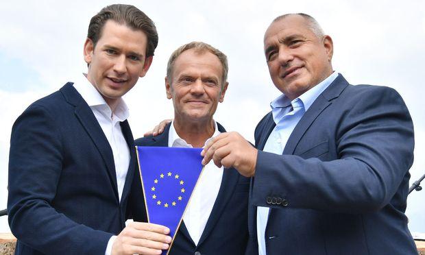 EU Regierung Österreich Bulgarien:Österreich feiert Beginn der EU-Ratspräsidentschaft