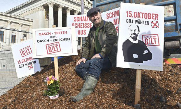 Dirty Campaigning-Aktion von Roland Düringer