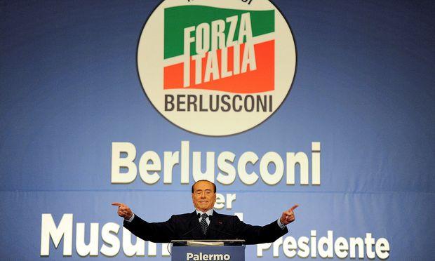 Berlusconis Partei gilt bei den Parlamentswahlen als Favorit.