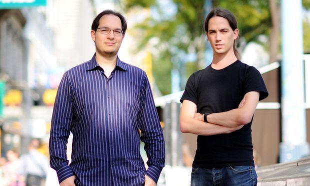 Bernhard Tittelbacher und Martin Jost (v. l.) haben den Kilobaser entwickelt.Reformideen für das Land.