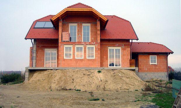 Archivbild: Rohbau eines Einfamilienhaus