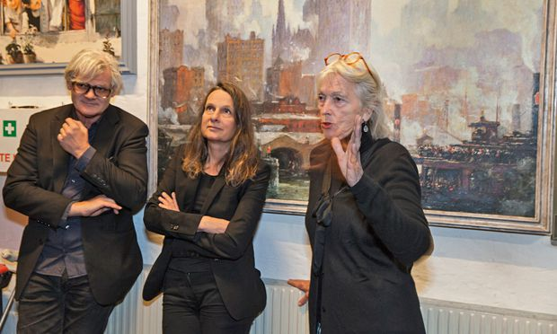 Anekdoten-Sammlung. Andreas Donhauser, Renate Martin und Brigitte Hutter, Vorsitzende des VÖF.