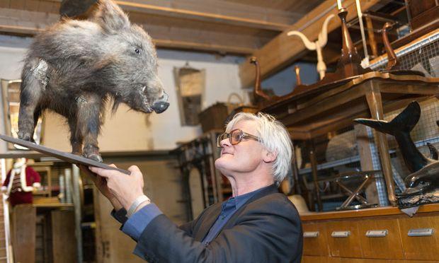 Haarig. Andreas Donhauser von Donmartin Supersets inspiziert die Wildschwein-Population.