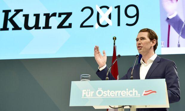 In den Umfragen liegt die ÖVP mit Sebastian Kurz seit Monaten stabil um 35 Prozent.