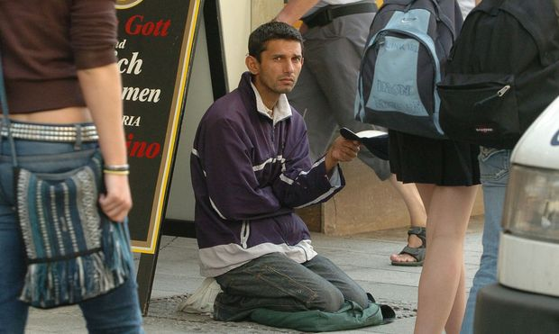 Bettler in Graz