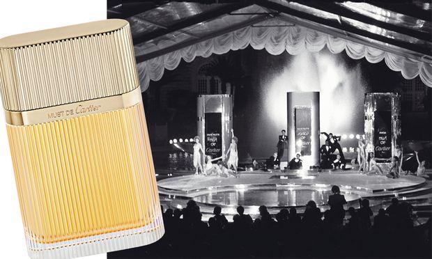"""Muss-Genuss. Frisch und elegant präsentiert sich das neue """"Must de Cartier Gold"""", Eau de Parfum"""", 50 ml um 89 Euro."""