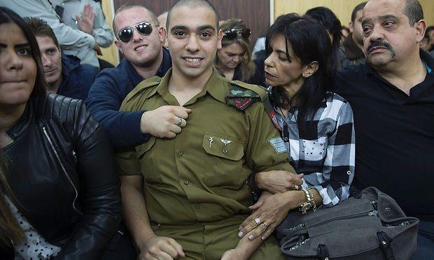 Elor Asaria stand in Tel Aviv vor Gericht.