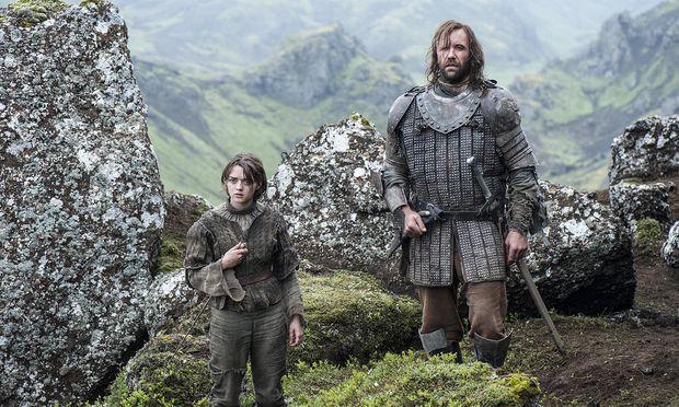 """Auch Arya und The Hound würden gerne wissen, wie es mit """"Game of Thrones"""" nach Staffel acht weitergeht / Bild: (c) HBO"""