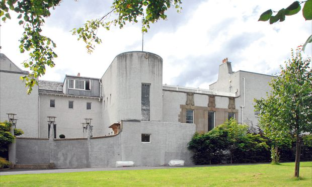 """Form. Mitten in Glasgow: Mackintoshs """"House for an Art Lover""""."""