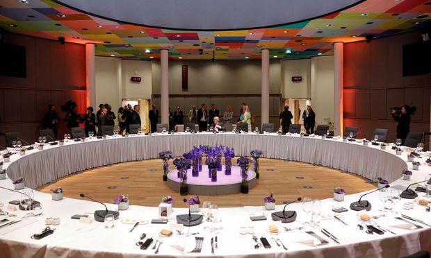 Gipfeltreffen mit Besteck. Es war die längste Tagung des Europäischen Rats seit der Griechenland-Krise.