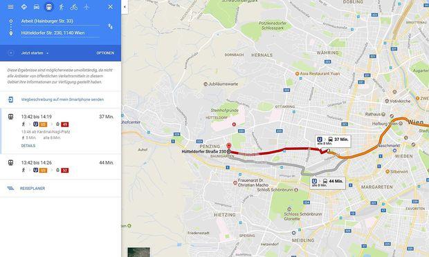 Daten Der Wiener Linien Ab Sofort In Google Maps Diepressecom