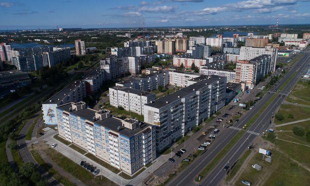 Ein Bild aus der russischen Stadt Sewerodwinsk, die erhöhter Strahlung ausgesetzt war.