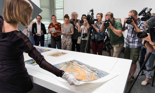 Das Kunstmuseum Bern präsentierte im Juli erste Meisterwerke aus der Sammlung Gurlitt vor Vertretern der Presse.