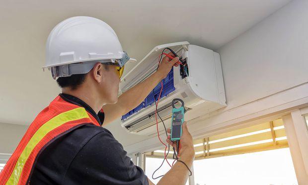Ausgerüstet für die nächste Hitzewelle: fix montierte Klimaanlage.