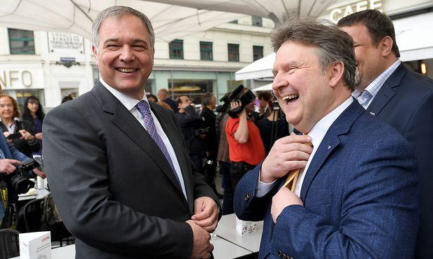 Kammerchef Walter Ruck (li) und Wiens künftiger Bürgermeister Michael Ludwig