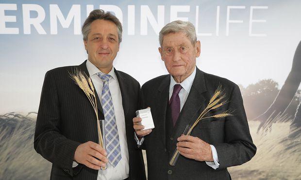 Molekularbiologe Frank Madeo (l) und Unternehmer Hannes Androsch
