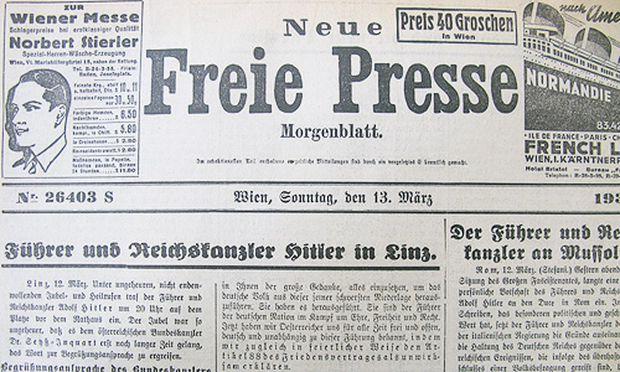 13. März 1938: \'\'Führer und Reichskanzler Hitler in Linz ...