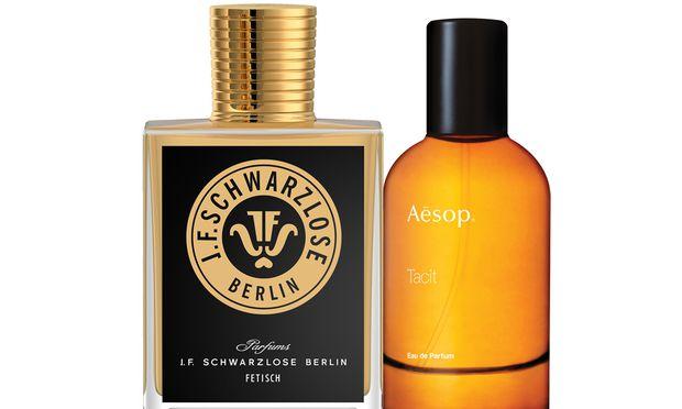 """Nah und fern. """"Fetisch"""" von J. F. Schwarzlose (129 Euro via schwarzloseberlin.com) und """"Tacit"""" von Aesop (80 Euro via aesop.com)."""