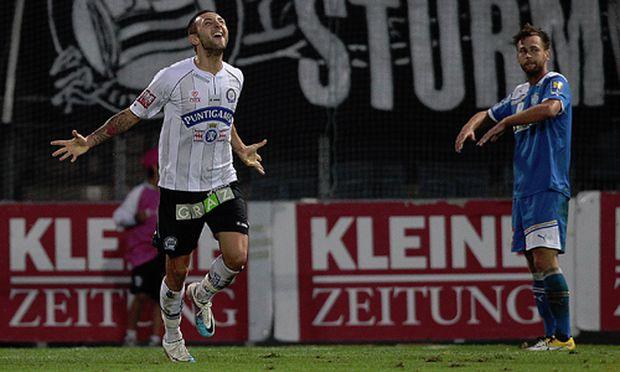 Fußball: Kantersieg für Sturm über Wiener Neustadt