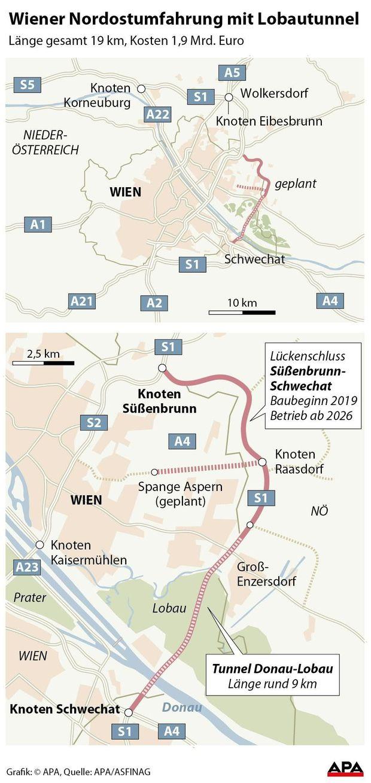 Wiener Nordostumfahrung mit Lobautunnel